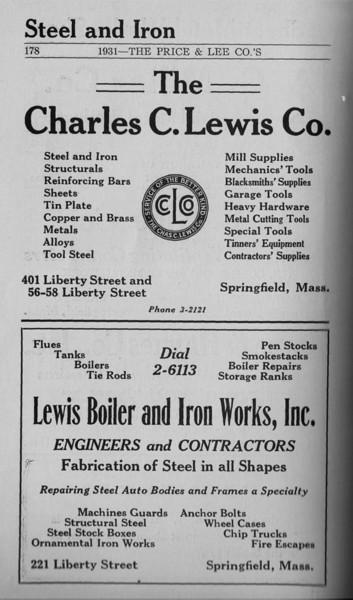 Springfield Directory Ads 1931 167