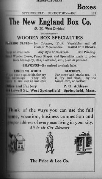 Springfield Directory Ads 1931 118