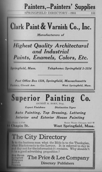 Springfield Directory Ads 1931 138