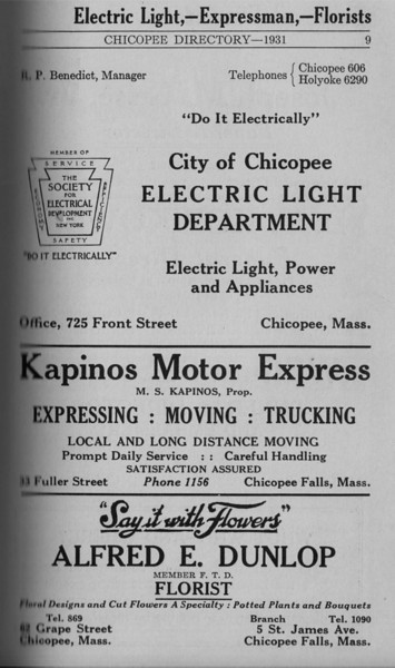 Springfield Chic Directory Ads 1931 07
