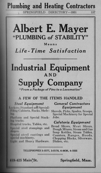 Springfield Directory Ads 1931 146