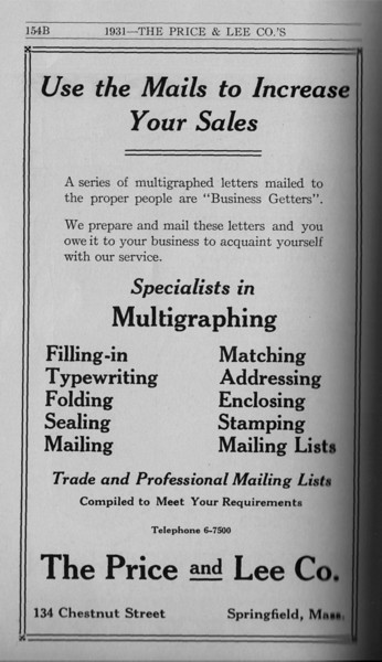 Springfield Directory Ads 1931 143