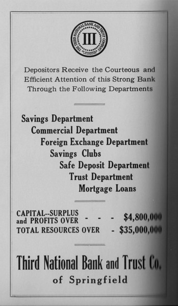 Springfield Directory Ads 1931 185