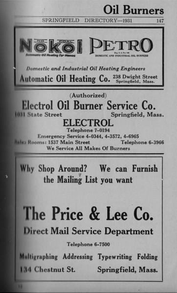 Springfield Directory Ads 1931 134