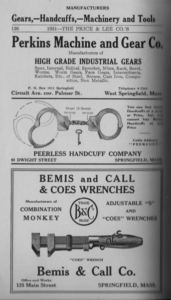 Springfield Directory Ads 1931 121