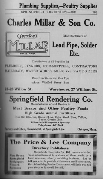 Springfield Directory Ads 1931 152