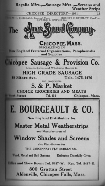 Springfield Chic Directory Ads 1931 13