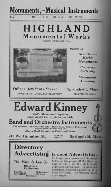 Springfield Directory Ads 1931 127
