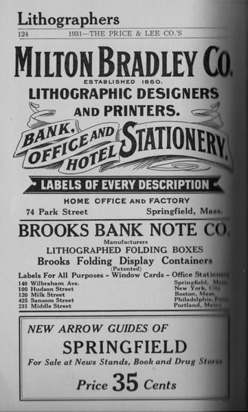 Springfield Directory Ads 1931 109