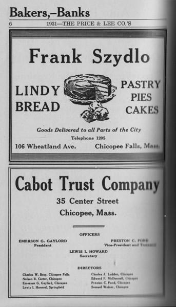 Springfield Chic Directory Ads 1931 04