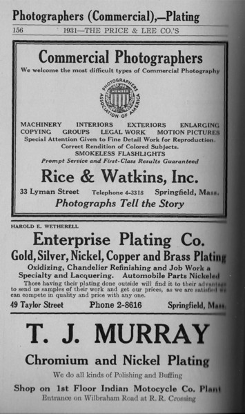 Springfield Directory Ads 1931 145