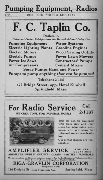 Springfield Directory Ads 1931 159