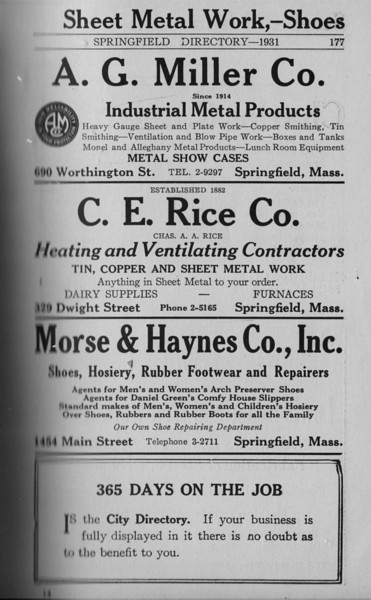 Springfield Directory Ads 1931 166