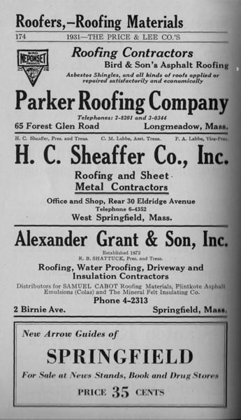 Springfield Directory Ads 1931 163