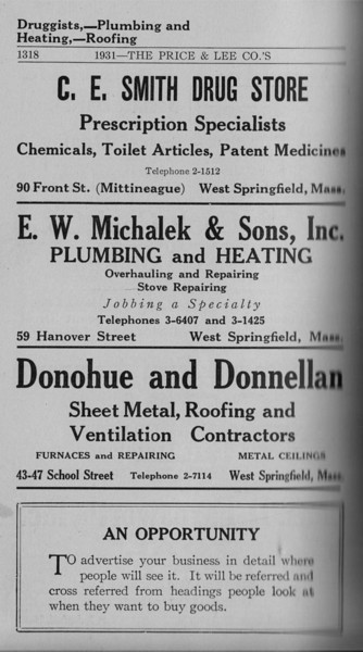 Springfield WS Directory Ads 1931 05