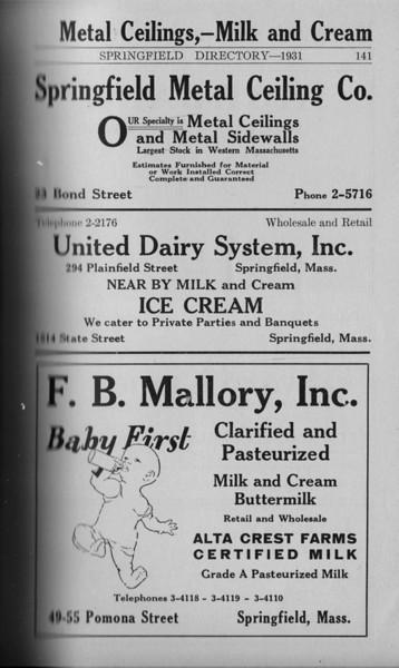 Springfield Directory Ads 1931 126