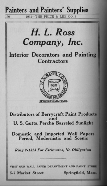 Springfield Directory Ads 1931 137