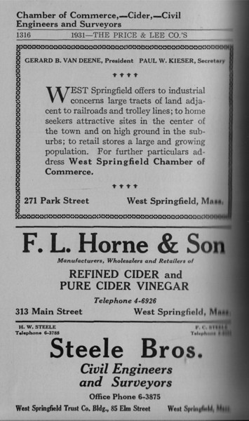 Springfield WS Directory Ads 1931 03