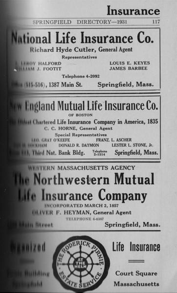 Springfield Directory Ads 1931 102