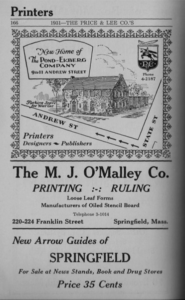 Springfield Directory Ads 1931 155
