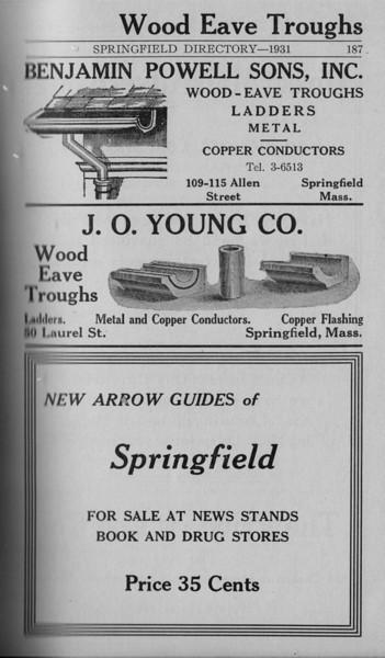 Springfield Directory Ads 1931 176
