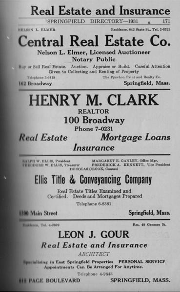 Springfield Directory Ads 1931 160