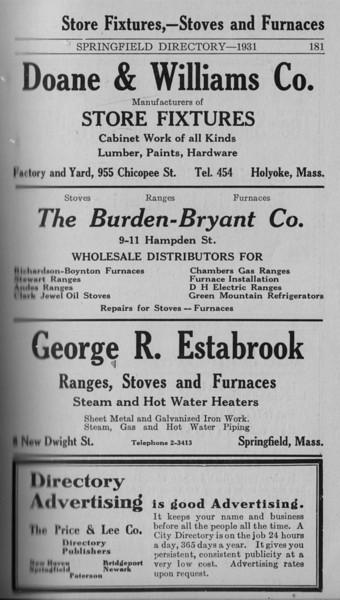 Springfield Directory Ads 1931 170