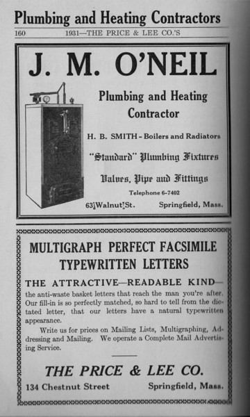 Springfield Directory Ads 1931 149