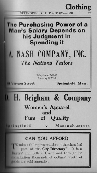 Springfield Directory Ads 1931 059