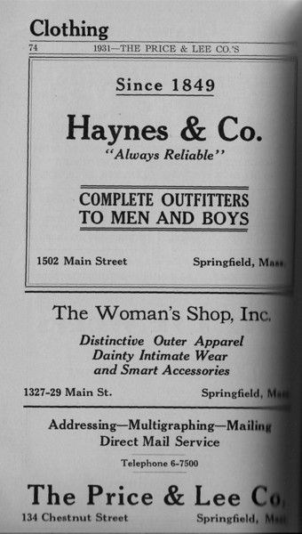 Springfield Directory Ads 1931 058