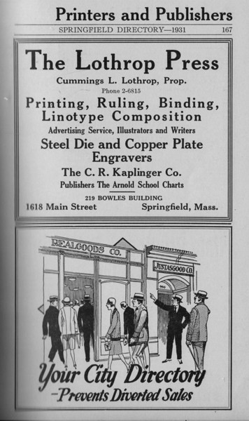 Springfield Directory Ads 1931 156