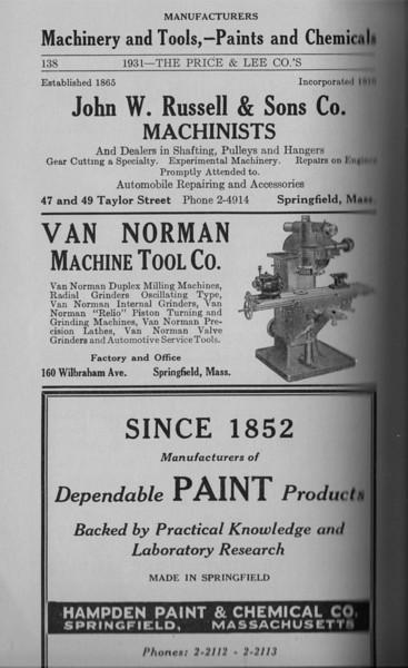 Springfield Directory Ads 1931 123