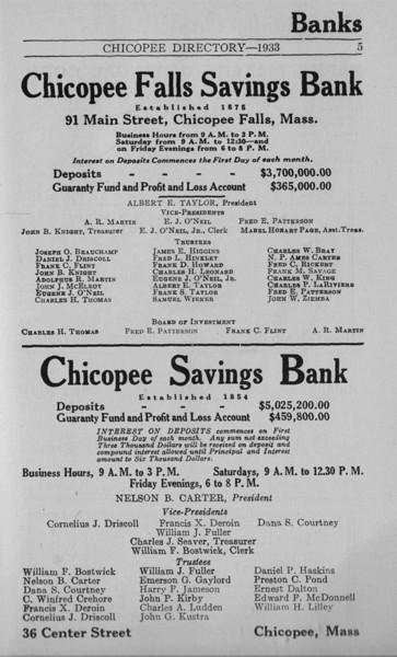 Springfield Chicopee Bus Directory 1933 06