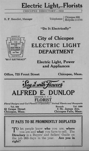 Springfield Chicopee Bus Directory 1933 02