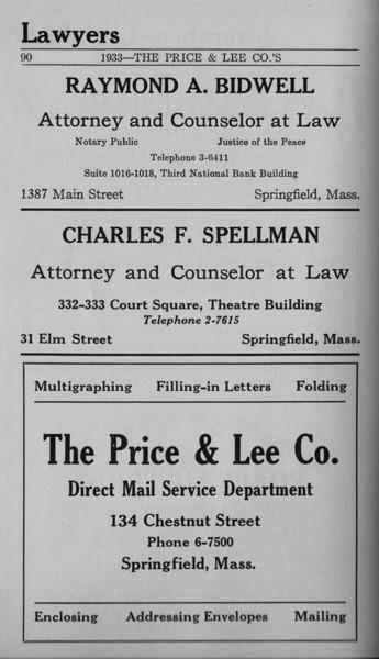 Springfield Bus Directory 1933 067