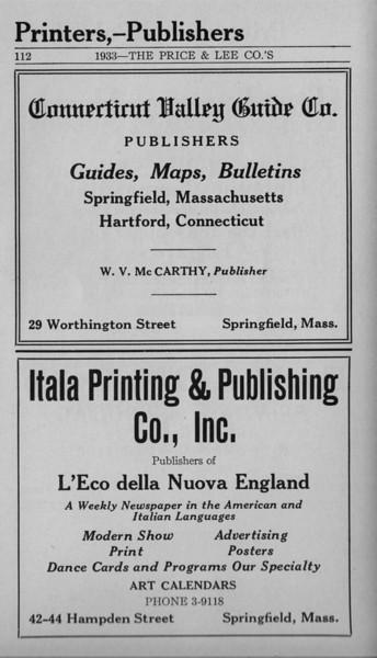 Springfield Bus Directory 1933 108
