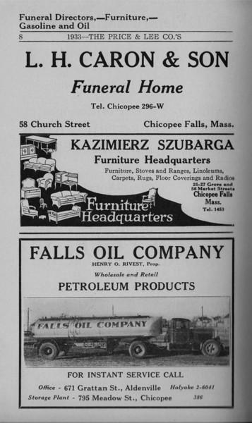 Springfield Chicopee Bus Directory 1933 08