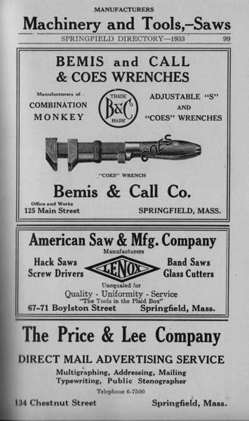 Springfield Bus Directory 1933 076