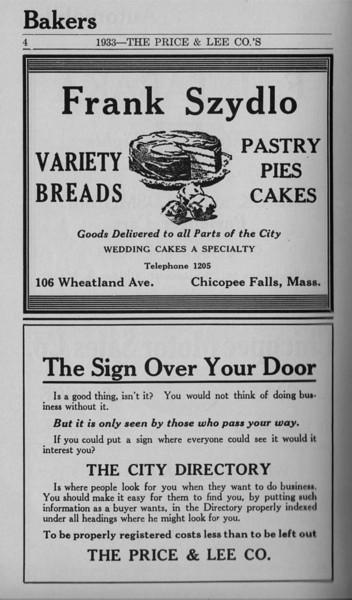Springfield Chicopee Bus Directory 1933 05