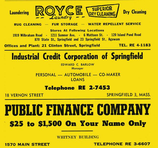 Springfield City Directory 1957 1fp