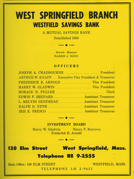Springfield City Directory 1957 1by