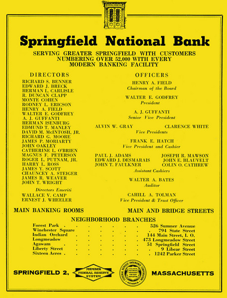 Springfield City Directory 1957 1bs