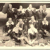4. The 10-man crew of the 'Sunrise Serenader', taken at Sioux Falls Army Air Field in South Dakota in the summer of 1943. S/Sgt William H. McCulley (gunner) is on the left end of the middle row. All were killed except for T/Sgt Alan B. Purdy (radioman), who is at the right end of the middle row. Others in the crew were [back row, from left] 2nd Lt Ralph J. Connell (pilot), 1st Lt ___ Cavanaugh (co-pilot), 2nd Lt Claude Gober (bombardier), 2nd Lt Lawrence H. Angthuis (navigator); [middle row, from left] McCulley, S/Sgt Robert G. Bryant (gunner), T/Sgt Harvey A. Wick (engineer), Purdy; [front row, from left] T/Sgt Ellsworth Calder (ball-turret), and S/Sgt Kenneth D. Barr (rear-turret).  Purdy supplied the names for this picture in his 1977 letter to Jim Waldron (see picture 13 below).<br /> <br /> NOTE, in his letter, Purdy explains that Lt Cavanaugh was not on this Nov 13, 1943 mission, but had been replaced by 2nd Lt Albert H. Doman, who was killed.