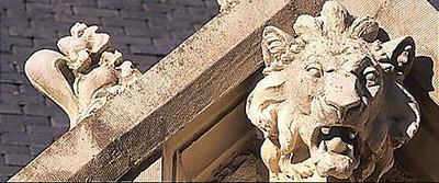 Lion Stone Relief , St . Philips Episcopal Church , Jacksonville , Florida