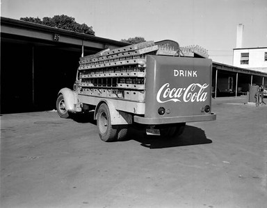 Rear view of a Coca-Cola Bottling Company truck in 1948. Photograph courtesy of State Archives of Florida, Florida Memory, http://floridamemory.com/items/show/167783