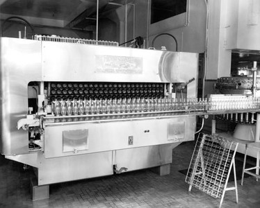 Empty bottles at the Coca Cola Bottling plant in 1948. Photograph courtesy of State Archives of Florida, Florida Memory, http://floridamemory.com/items/show/51587