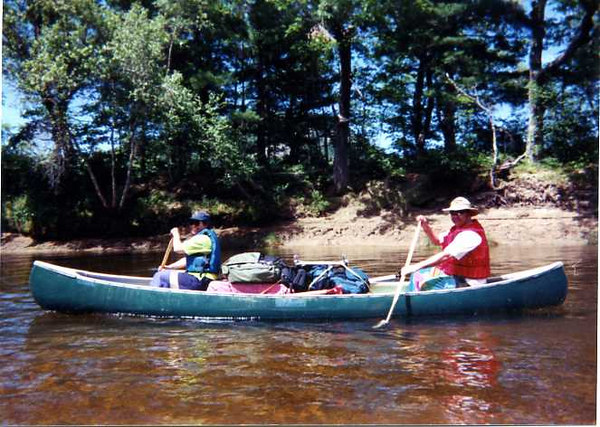 Linda & Keith Stickney on our canoe/camping trip down the Saco River
