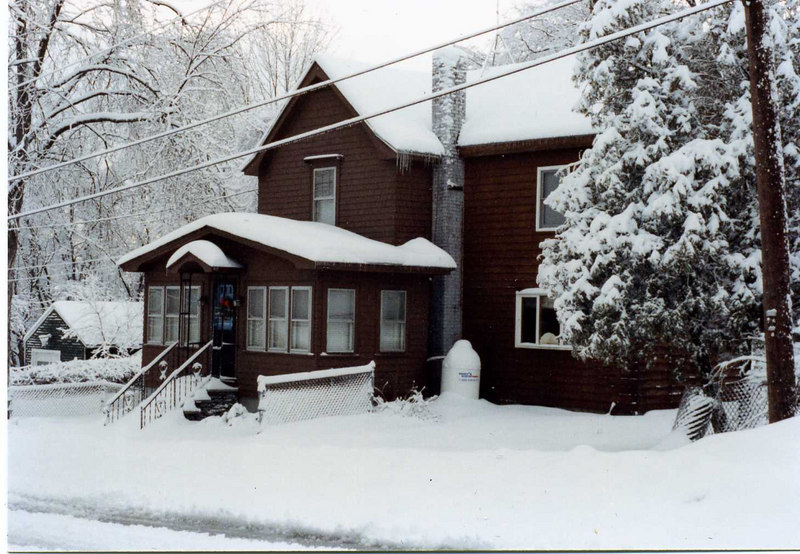 Another New England winter outside our house in Manchester, New Hampshire