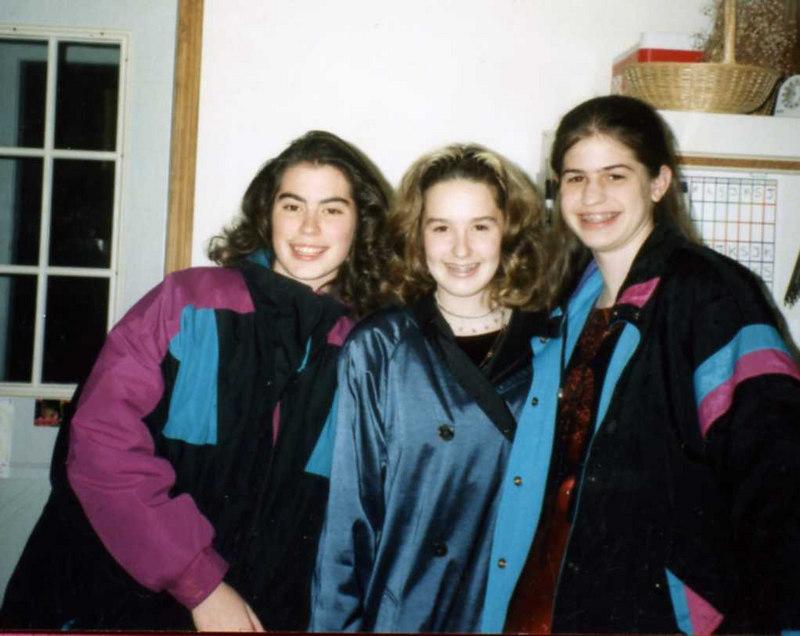 Kristen, Krystel Bennett & Sarah Stickney leaving for a stake dance for Christmas.