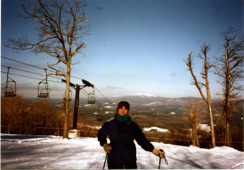 Kristen Stickney on the slopes